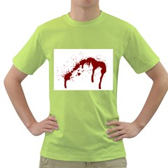 Blood Splatter 6 Green T-Shirt