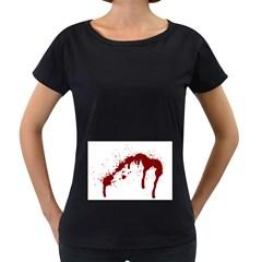 Blood Splatter 6 Women s Loose-Fit T-Shirt (Black)