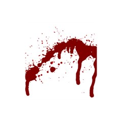 Blood Splatter 6 Shower Curtain 48  x 72  (Small)