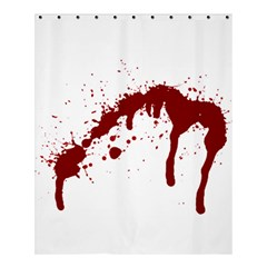Blood Splatter 6 Shower Curtain 60  x 72  (Medium)