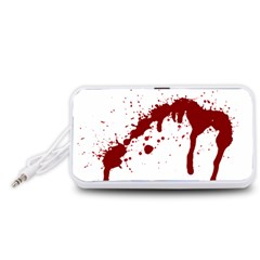 Blood Splatter 6 Portable Speaker (White)