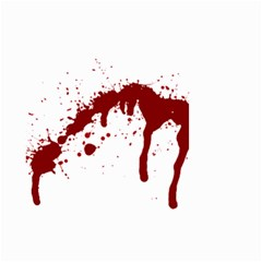 Blood Splatter 6 Small Garden Flag (Two Sides)