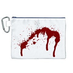 Blood Splatter 6 Canvas Cosmetic Bag (XL)