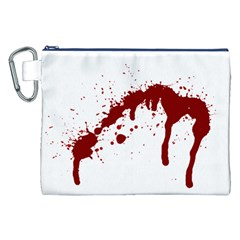 Blood Splatter 6 Canvas Cosmetic Bag (XXL)