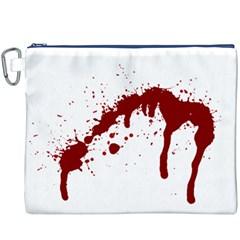 Blood Splatter 6 Canvas Cosmetic Bag (XXXL)
