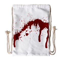 Blood Splatter 6 Drawstring Bag (Large)