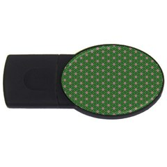 Cute Seamless Tile Pattern Gifts Usb Flash Drive Oval (4 Gb)