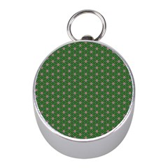 Cute Seamless Tile Pattern Gifts Mini Silver Compasses