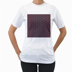 Cute Seamless Tile Pattern Gifts Women s T Shirt (white) (two Sided)