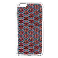 Cute Seamless Tile Pattern Gifts Apple iPhone 6 Plus Enamel White Case
