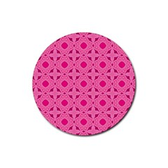 Cute Seamless Tile Pattern Gifts Rubber Coaster (round)
