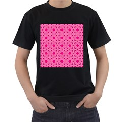 Cute Seamless Tile Pattern Gifts Men s T Shirt (black) (two Sided)