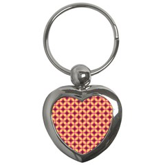 Cute Seamless Tile Pattern Gifts Key Chains (heart)