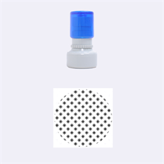 Cute Seamless Tile Pattern Gifts Rubber Round Stamps (Small)