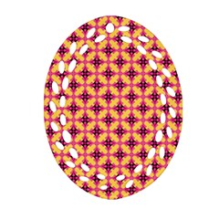 Cute Seamless Tile Pattern Gifts Oval Filigree Ornament (2 Side)