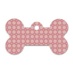 Cute Seamless Tile Pattern Gifts Dog Tag Bone (one Side)