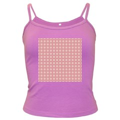 Cute Seamless Tile Pattern Gifts Dark Spaghetti Tanks