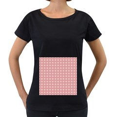 Cute Seamless Tile Pattern Gifts Women s Loose Fit T Shirt (black)