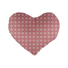 Cute Seamless Tile Pattern Gifts Standard 16  Premium Flano Heart Shape Cushions