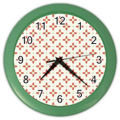 Cute Seamless Tile Pattern Gifts Color Wall Clocks