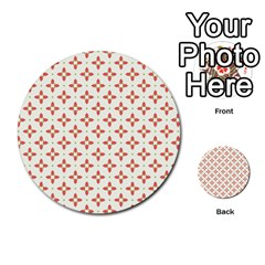Cute Seamless Tile Pattern Gifts Multi-purpose Cards (Round)