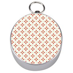 Cute Seamless Tile Pattern Gifts Silver Compasses