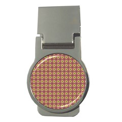 Cute Seamless Tile Pattern Gifts Money Clips (round)