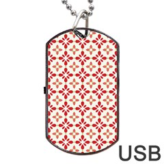 Cute Seamless Tile Pattern Gifts Dog Tag USB Flash (One Side)