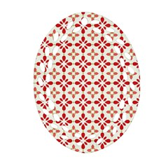 Cute Seamless Tile Pattern Gifts Oval Filigree Ornament (2-Side)