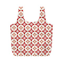 Cute Seamless Tile Pattern Gifts Full Print Recycle Bags (m)