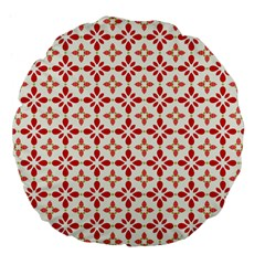 Cute Seamless Tile Pattern Gifts Large 18  Premium Flano Round Cushions