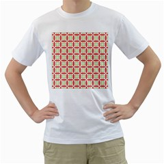 Cute Seamless Tile Pattern Gifts Men s T Shirt (white) (two Sided)
