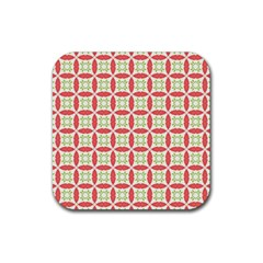Cute Seamless Tile Pattern Gifts Rubber Square Coaster (4 Pack)