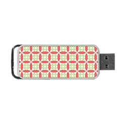 Cute Seamless Tile Pattern Gifts Portable USB Flash (One Side)