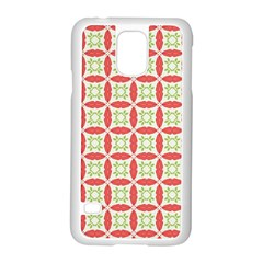 Cute Seamless Tile Pattern Gifts Samsung Galaxy S5 Case (White)