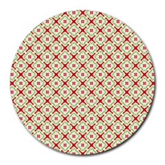 Cute Seamless Tile Pattern Gifts Round Mousepads