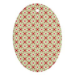 Cute Seamless Tile Pattern Gifts Ornament (oval)