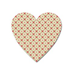 Cute Seamless Tile Pattern Gifts Heart Magnet