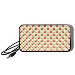 Cute Seamless Tile Pattern Gifts Portable Speaker (Black)