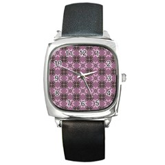 Cute Seamless Tile Pattern Gifts Square Metal Watches
