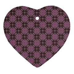 Cute Seamless Tile Pattern Gifts Ornament (heart)