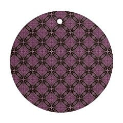 Cute Seamless Tile Pattern Gifts Round Ornament (two Sides)