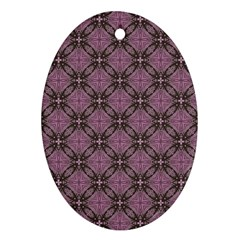 Cute Seamless Tile Pattern Gifts Oval Ornament (two Sides)