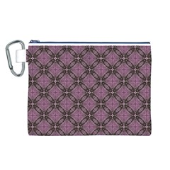 Cute Seamless Tile Pattern Gifts Canvas Cosmetic Bag (L)