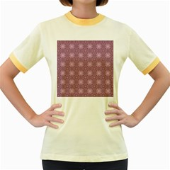 Cute Seamless Tile Pattern Gifts Women s Fitted Ringer T Shirts