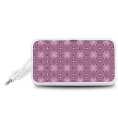 Cute Seamless Tile Pattern Gifts Portable Speaker (White)