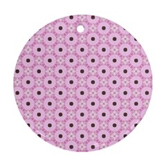 Cute Seamless Tile Pattern Gifts Ornament (round)