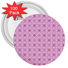 Cute Seamless Tile Pattern Gifts 3  Buttons (100 Pack)
