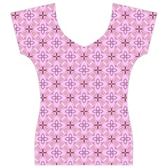 Cute Seamless Tile Pattern Gifts Women s V-Neck Cap Sleeve Top