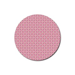 Cute Seamless Tile Pattern Gifts Rubber Round Coaster (4 Pack)
